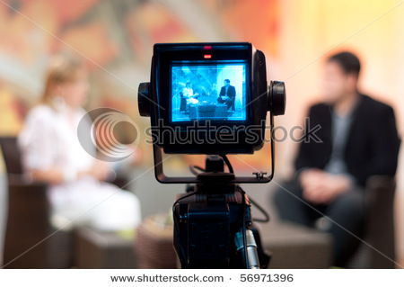 stock-photo-video-camera-viewfinder-recording-show-in-tv-studio ...