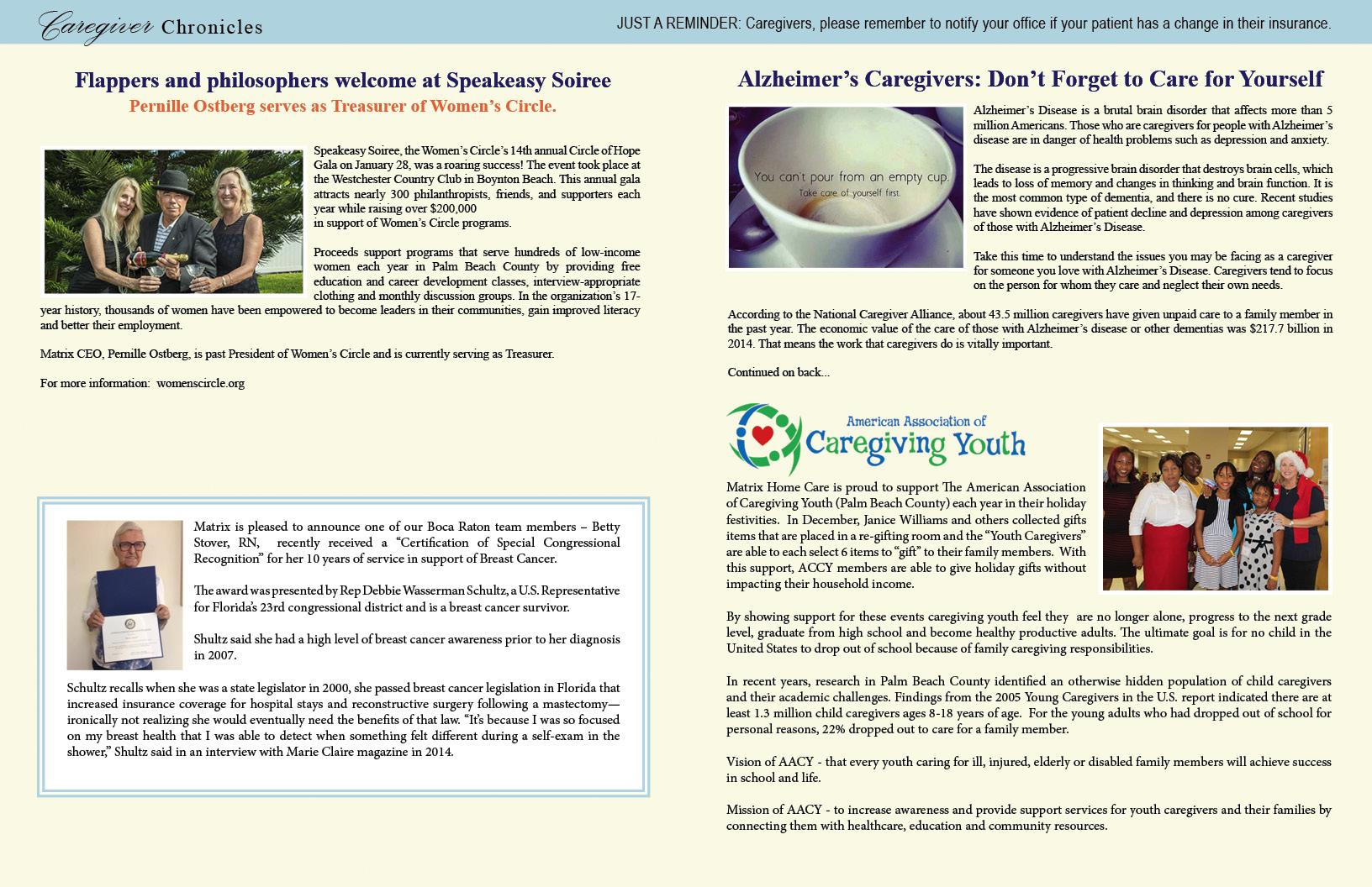 Matrix Home Care Winter Newsletter